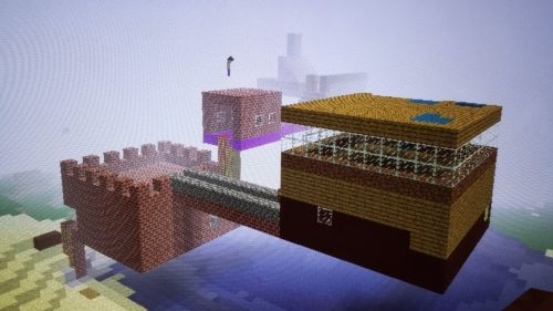 Minecraft castle built by me and my son.