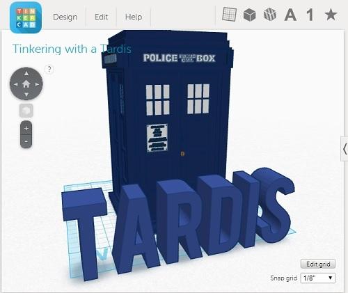 Tinker CAD TARDIS