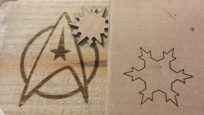 Laser cutting samples