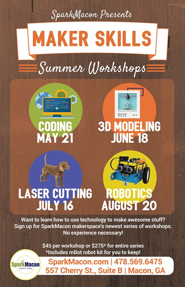 Maker Skills Summer Workshops