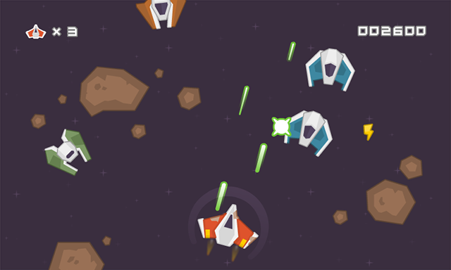 Space shooter graphic